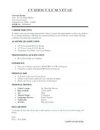 Format For A Resume Example Correct Format Of A Resume Beautiful