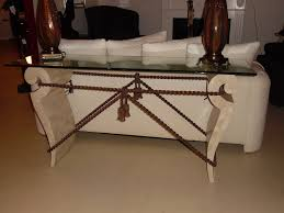 H  Inspirations Stone Hall Table With Marfil Marble  Veneer Glass Top Grapes