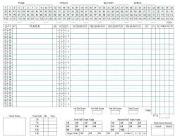 Basketball Stats Excel Template Basketball Score Sheet Template Excel With Printable Stat Scoreboard