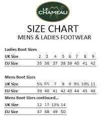vibram size chart le chameau country vibram neo boots john norris