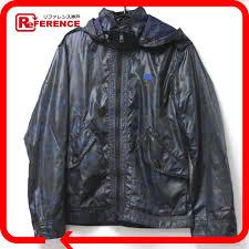burberry black label burberry black label hooded zip up blouson camo camouflage nylon jacket mens