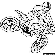 Small Picture Motocross Bike Coloring Page Color Motocross