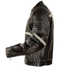 xelement men s charcoal dark brown leather armored motorcycle