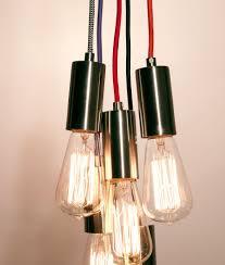 bare bulb pendant lighting with 3 0 metre braided flex pendant 2 colours 11