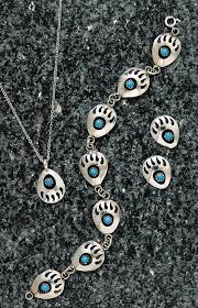 sterling turquoise bear claw jewelry
