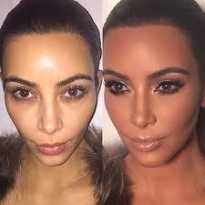 step by step kim k makeup from the mario d master cl steps