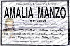 Amalia Manzo - anni 80 - La Bacheca Italiana degli Annunci Funebri