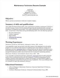 Building Maintenance Technician Resume Examples Resume Resume
