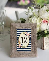 printable table number in old frame