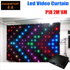 Dj Booth Charts P18 2m 6m Fire Proof Led Video Curtain With Off Line