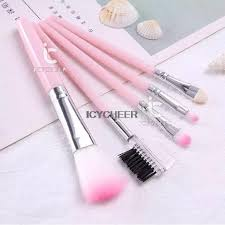pink 5pc makeup brush set ping promall philippines