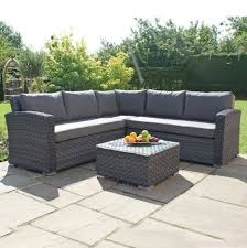 maze victoria small rattan corner sofa
