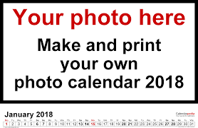 custom calendar templates photo calendar 2018 free printable pdf templates