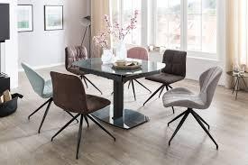 Esszimmertisch 120 180 Cm Ausziehbar Küchentisch Esstisch Metall Glas Tisch