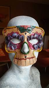 picture of leather sugar skull mask