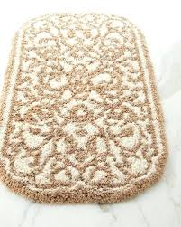 quick look a damask bath rug cotton rugs contour combed