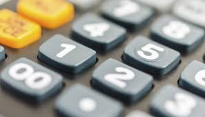 close up of calculator keyboard