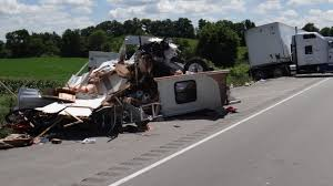 Semi rear-ends truck hauling camper, family of 6, officials say - WISC