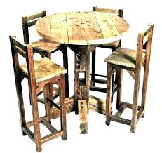 round oak pub table sets amish and chairs light set tables bar kitchen on beautiful