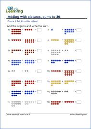 Grade 1 Math Worksheet Sample | HS - 1st - 2nd Grade Maths ...