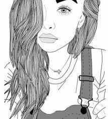 картинки девушки для срисовки карандашом 34 фото наслаждайтесь