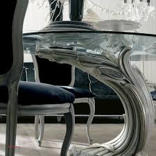 glass dining table and 6 red chairs luxury antique finish silver italian pedestal round glass dining