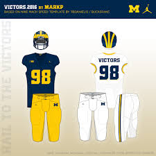 2016 Michigan Football Uniform Concept Mgoblog