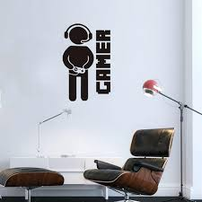game wall decals game wall sticker gamer joystick wall decal art for home decor removable vinyl wall mural paper in wall stickers from home