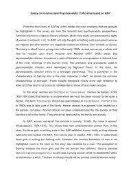 criticism essay id psychoanalysis