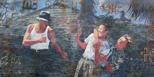a mural by san antonio artist adan hernandez made famous by the 1993