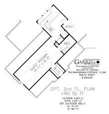 99 best favorite house plans images on pinterest cottage house Mountain Craftsman House Plans nantahala cottage 3 car house plan 09057, optional 2nd floor plan, mountain style house mountain craftsman house plans with photos