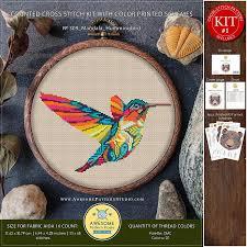 Free Wing Needle Embroidery Designs Mandala Hummingbird K309 Embroidery Cross Stitch Kit Funny Animals Stitching How To Cross Stitch Cross Stitch Designs Embroidery Designs