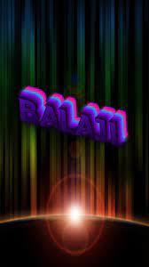 Balaji as a ART Name Wallpaper!