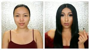 cardi b makeup transformation