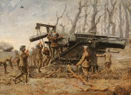 Marine Artilery Royal Marine Artillery Howitzer In Action 1914 The Art Of War