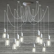 europa 1910 edison bulb bronze multi light pendant light cable chandelier in white light bulb entry