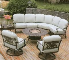 white iron outdoor furniture. Beautiful Outdoor Furniture With Wrought Iron Sofa Base White Seat And R Of Patio O