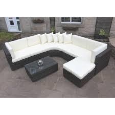 rattan outdoor curved corner sofa set