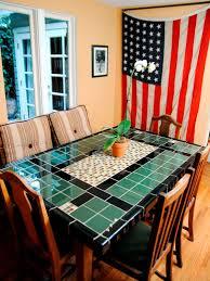 create a mosaic tile tabletop