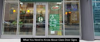glass door signs atlanta custom signs