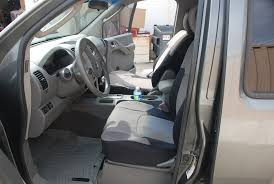 2007 nissan frontier front driver black silver neoprene seat covers jpg