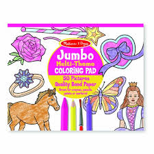 The butterfly was able to surprise him. Jumbo Coloring Pad Pink Melissa Doug