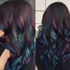 Oil Slick Hair Coloring For People