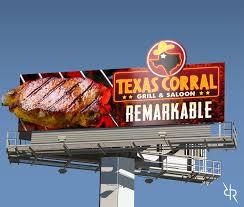 Restaurant Billboard Design For Texas Corral By Robert R