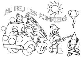 Coloriages De Pompier Les Personnages L