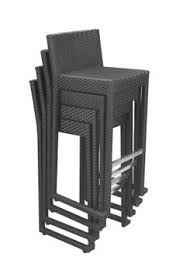 luxury rattan woven bar stool mb2928 sea black grass wicker stackable antalyaa bar stool