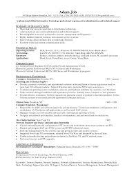 Resume Template Sample Sales Support Representative It Technician