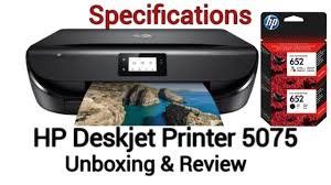 Hp deskjet ink advantage 5275. Hp Deskjet Printer 5075 Unboxing Review Youtube