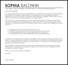 personal support worker cover letter sample cover letter for it support