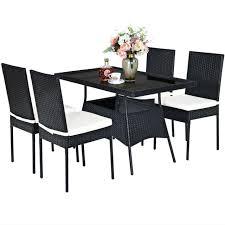 garden furniture dining chairs rattan